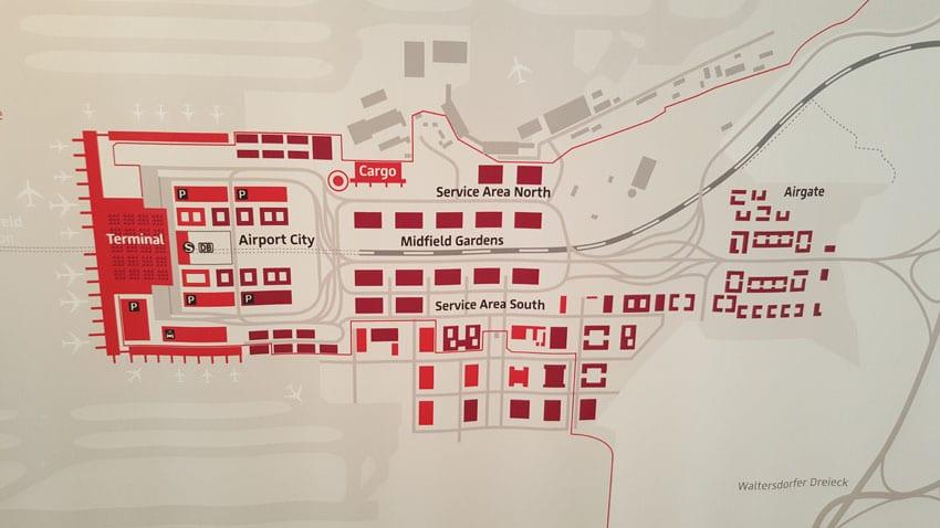 Carte du nouvel aéroport