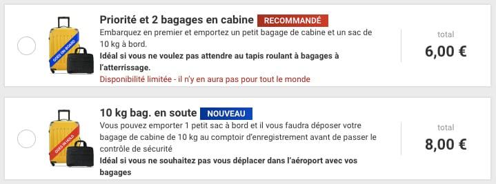 Nouvelle politique bagage Ryanair