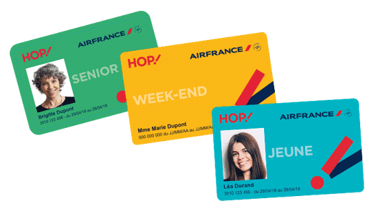 Cartes de réduction HOP! Air France