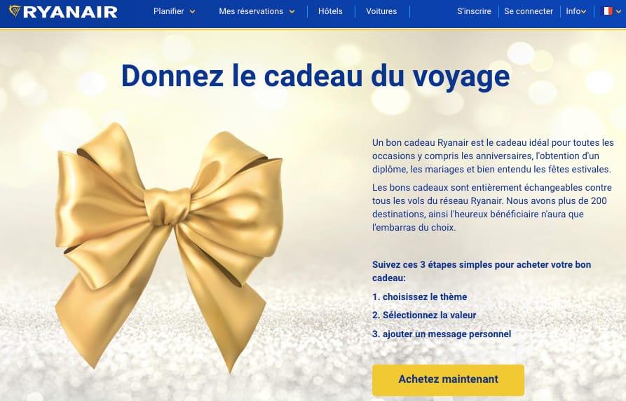 Bon Cadeau Ryanair