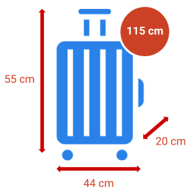 Taille et dimensions Bagage cabine