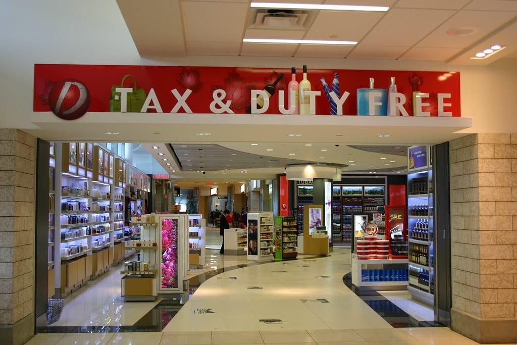 Boutique duty free en aéroport